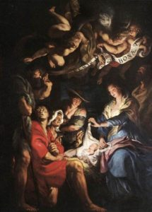 """Adoration of the Shepherds"" by Peter Paul Rubens, 1608"
